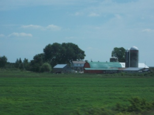 Abundant crop and dairy farms dotted the landscape along the St. Lawrence River Valley.