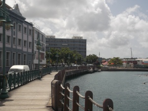 The Bridgetown Boardwalk is a pleasant (but hot!) stroll a few steps from the busy commercial centre.