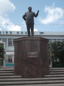 Erroll Barrow was the first Prime Minister of Barbados. The monument is a permanent tribute to his memory and contribution to the development of Barbados.