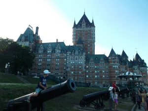 The Chateau Frontenac, situated within the Old City of Quebec, is a sight to behold from any vantage point in the area.