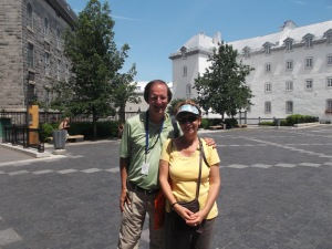 Robert, my walking tour guide and I parted here as I had to check out of the hotel.  I left after he had described this site, which was a seminary/boys' school originally established by  Laval, the first Bishop of Neew France. The Seminary became  University of Laval in 1852.