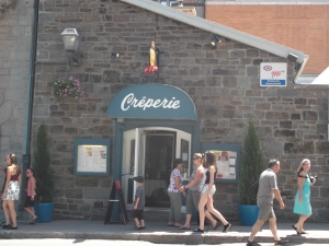 The Creperie is actually situated on a patio behind the entrance way.  It was lovely!