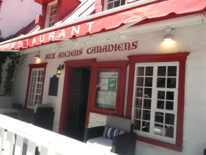 On the tour, I encountered a place I visited in 1976 when I visited Quebec with my French class for Carnaval in mid-winter.  Aux Anciens Canadiens is a well established traditional Quebecois restaurant in the heart of the old city.