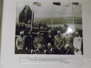 """In 1944, Fairmont Le Château Frontenac became the action center of the Quebec Conferences of World War II, which involved U.S. President Franklin D. Roosevelt, British Prime Minister Winston Churchill and Canadian Prime Minister William Lyon Mackenzie King."" This historic photo recalls a time when these world leaders were strategizing the end WWII - at this same hotel!"