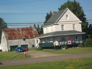 A typical farm home in Northern New Brunswick.