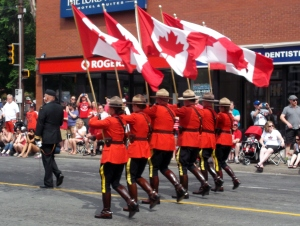 Canada Day 2014 in Halifax started with a grand parade in which a contingent of 'Mounties' proudly participated.