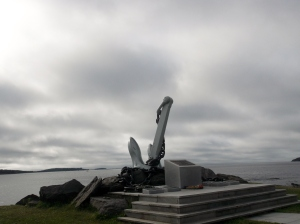 It was a foggy morning when I walked around Point Pleasant . These monuments reminded of sober times in Canadian naval history.