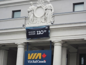 The Halifax Train Station where the Ocean ends its 1,346 km (836 mi) journey from Montreal.  2014 marks the 110th year of this unique excursion. I've done it twice now!