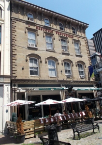 This restored building houses the Split Crow Pub, a Halifax landmark in the Historic Properties near the waterfront.