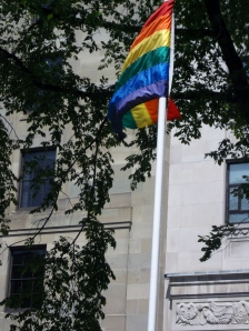 At the Nova Scotia Legislature, the Rainbow Flag flew high, honouring people of the LGBT community and their individual rights and freedoms.  Canada had just hosted the 1st World  Pride celebration in North America in Toronto.