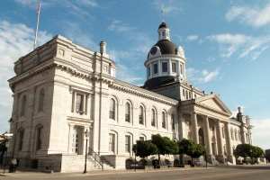 Kingston's limestone City Hall was completed in 1841 and is a National Historic Site of Canada.  the nations's first Prime Minister, Sir John A. MacDonald lay in state in this building after he died in 1891.