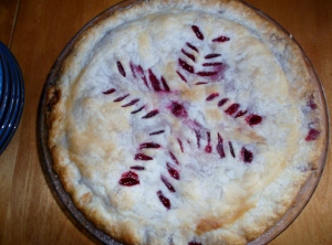 This artistically appealing organic raspberry pie tasted as good as it looked.  It was prepared by Bill, another amazing nonagenarian.  The Freedom Farm staff, volunteers and I quickly devoured t eh whole thing!