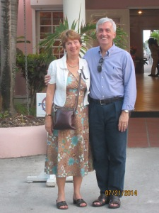 Music 1981 alumni and longtime friends Gwen Whitford and David Self recently got-together in Barbados, where David is working and still playing piano/organ. Gwen was on her way home to Dominica, where she still does some singing.  Photo taken by John.