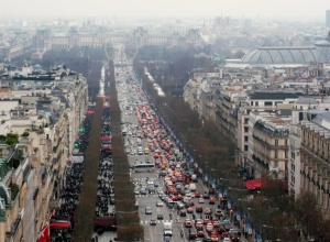 The vibrant Champs d'Elysees ia a sight to see at any time of year!