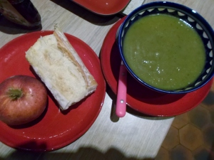 I'd never had zucchini soup until Paris.  I did benefit from its popularity while I was there!