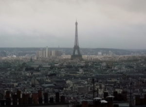 The view over Paris from the wedding reception room added to the ambiance of this wonderful occasion.