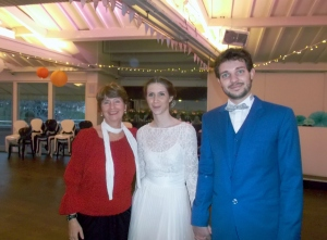I am so glad that I have a pic of me with my special French friends in their wedding outfits!