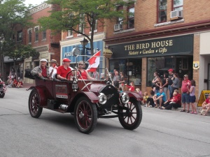 A number if vintage autos formed part of the Canada Day 2015 parade in Orillia, Ontario.