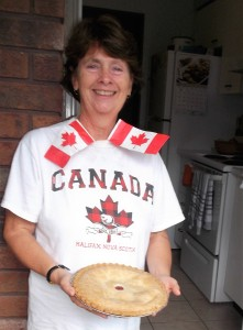Of course I had Canada Day fever! I was ready for a slice of strawberry-rhubarb pie to celebrate my heritage!