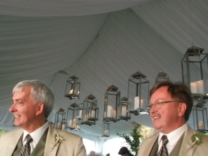It was a beautiful day in early July when my longtime friends David and John 'tied the knot' in a moving ceremony before 100 guests at their home in eastern Ontario.
