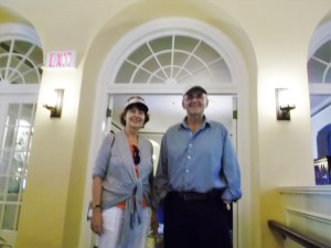 I posed with cousin Greg in the entrance to the dining room of the famous Digby Pines Resort, which has a lengthy history and a constant stream of guests!