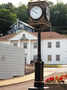 In Digby, the clock in the town square even tells the time of the high and low tides
