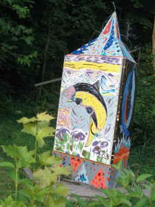 Folk art is a popular genre of artistic endeavor in Nova Scotia, as evidenced in Wolfville.