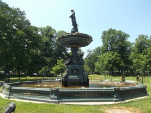 This fountain in the Halifax Public Gardens is a popular setting in which to sit nearby and enjoy the scene!