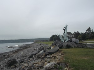 The waterfront of Point Pleasant Park is rugged and brisk, as it faces the open Atlantic Ocean. This anchor is a monument that pays tribute to men and women in the Canadian Navy who died in peace time.