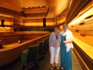 I was very honoured to be taken on a tour of the Isabel Bader Center for the Performing Arts by its Director,Ms. Tricia Baldwin. I am very grateful to Ms. Faye Ransom, Senior Development Officer/Gift Planning at Queen's University for organizing this delightful visit.