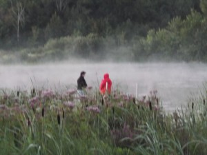 I caught Edwin and Beth casting their lines at the crack of dawn - ever hopeful for one that didn't get away!