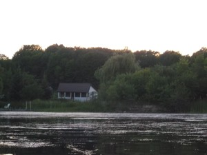 My 'home from home' for six weeks was this quaint little cottage on Dog Lake near Battersea, Ontario (as seen from a canoe!)