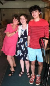 Auntie Gwen delighted in the chance to spend a little time with her niece Mara and her nephew Dallin in the Summer of 2015.