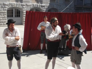 The Salon Theatre Company offered a highly entertaining and instructional production called 'In Sir John A.'s Footsteps in downtown Kingston.