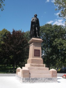 This regal statue of Sir John A. Macdonald figures prominently in the park named after him in Kingston!