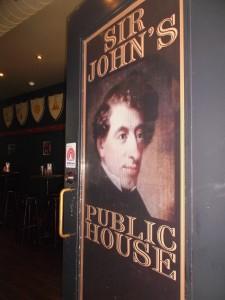 There are a number of buildings around Kingston that were once occuspied by Sir John A. for personal or business interests. This pub was his law office. It's located on King Street East and offers good food at reasonable prices!
