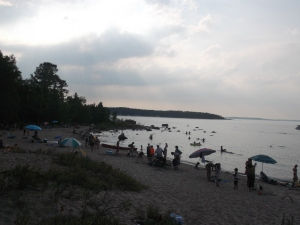 What a day to be on the beach at Awenda Provincial Park on Georgian Bay near Penetanguishene Ontario.