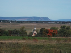 Grand Pre, with a view to Cape Blomidon and the Minas Basin.