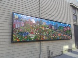 A colorful mural of Halifax on Dresden Row in the centre of the city.