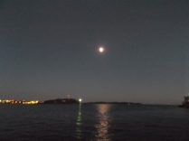 Full moon over Halifax Harbour.