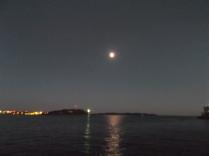 Full moon over Halifax Harbour.
