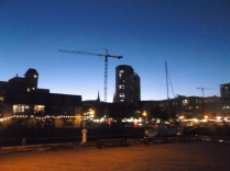 From the Boardwalk along Halifax Harbour, a view of the city in the twilight.